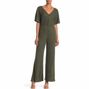 Vanity Room Front Twist V-Neck Jumpsuit Size Small
